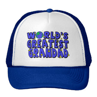 World s Greatest Grandad Mesh Hat