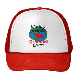 World's Greatest Grandad Heart Cap