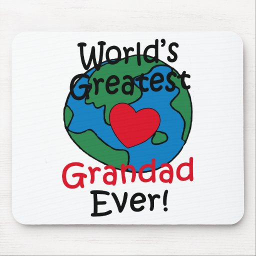 World's Greatest Grandad Heart Mouse Pad