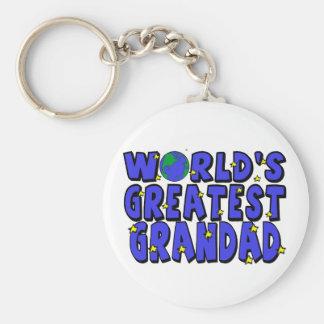 World s Greatest Grandad Key Chain
