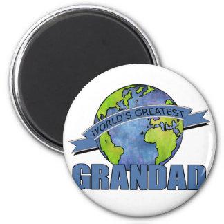 World s Greatest Grandad Refrigerator Magnet