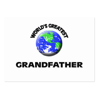 World s Greatest Grandfather Business Card Template