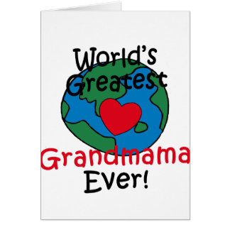 World's Greatest Grandmama Heart Greeting Cards