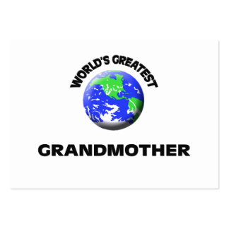 World s Greatest Grandmother Business Card Template