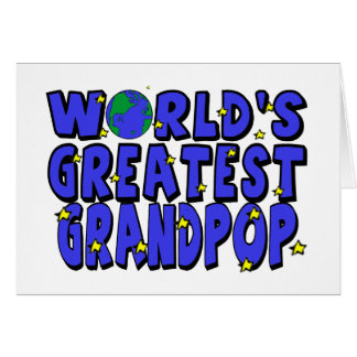 World s Greatest Grandpop Cards