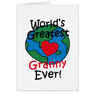 World's Greatest Granny Heart Greeting Card