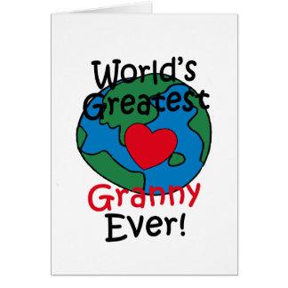 World's Greatest Granny Heart Greeting Card