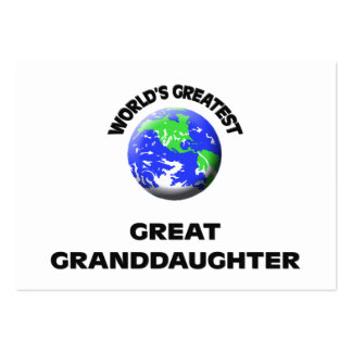 World s Greatest Great Granddaughter Business Cards