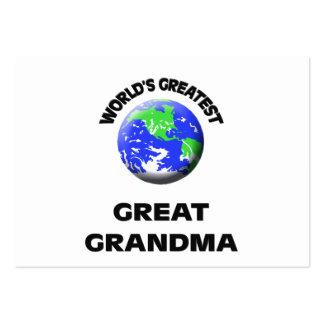 World s Greatest Great Grandma Business Card