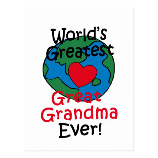 World's Greatest Great Grandma Heart Postcard