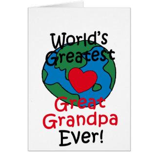 World's Greatest Great Grandpa Heart Greeting Card