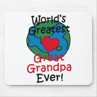 World's Greatest Great Grandpa Heart Mouse Pads