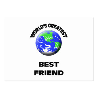 World s Greatest Greatest Friend Business Card Template