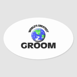 World s Greatest Groom Oval Stickers