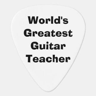 World s Greatest Guitar Teacher Guitar Pick