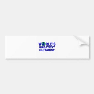 World s greatest Guitarist Bumper Sticker