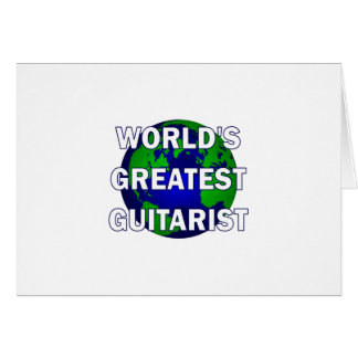 World s Greatest Guitarist Greeting Cards