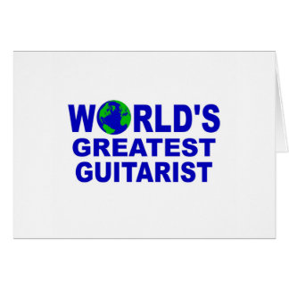 World s greatest Guitarist Cards