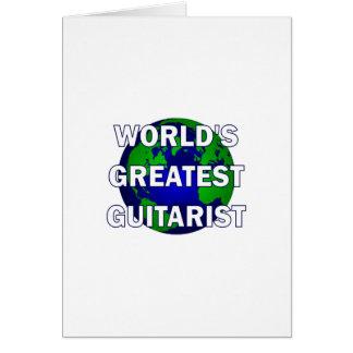 World s Greatest Guitarist Greeting Card