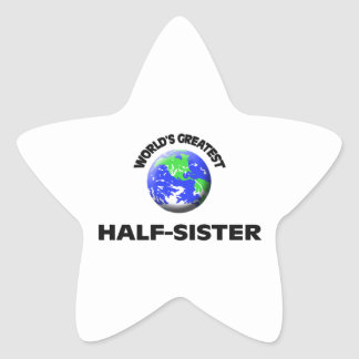 World s Greatest Half-Sister Star Stickers