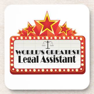 World s Greatest Legal Assistant Beverage Coasters