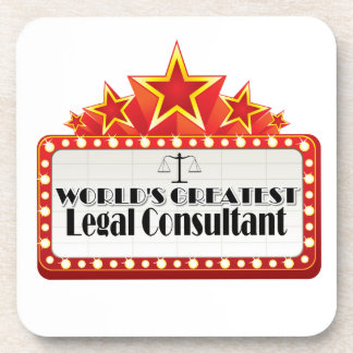 World s Greatest Legal Consultant Beverage Coasters