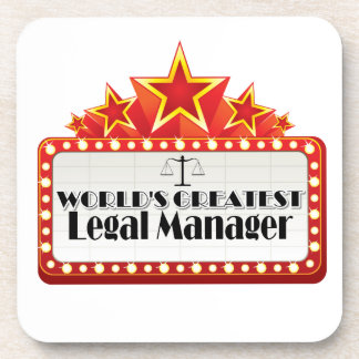 World s Greatest Legal Manager Drink Coaster
