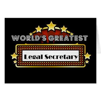 World s Greatest Legal Secretary Greeting Card
