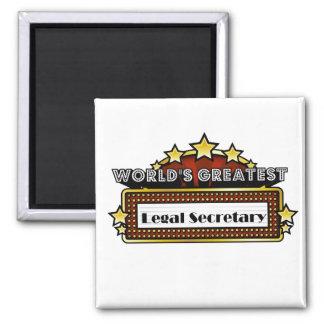 World s Greatest Legal Secretary Fridge Magnets