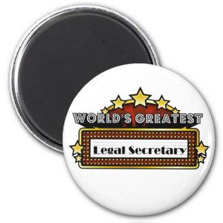 World s Greatest Legal Secretary Magnet