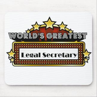 World s Greatest Legal Secretary Mousepads