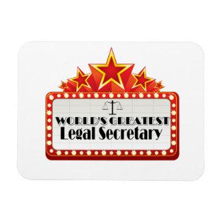 World s Greatest Legal Secretary Flexible Magnets