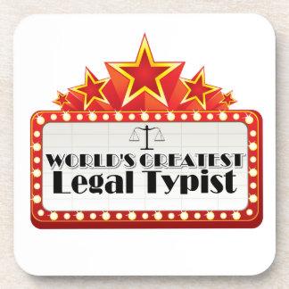 World s Greatest Legal Typist Coasters