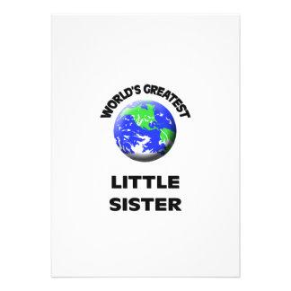 World s Greatest Little Sister Invite