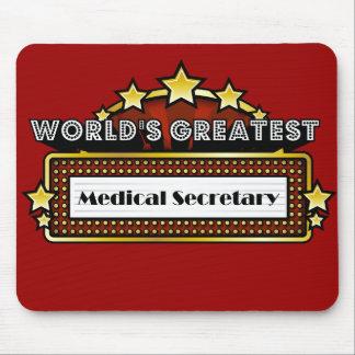 World s Greatest Medical Secretary Mousepads