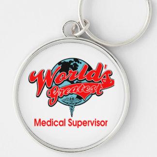 World s Greatest Medical Supervisor Keychains