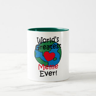 World's Greatest Meme Heart Two-Tone Coffee Mug