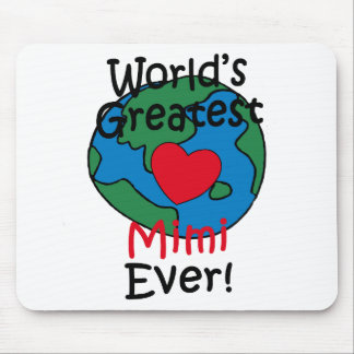 World's Greatest Mimi Heart Mouse Pad