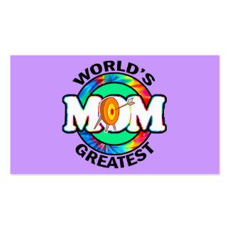 World s Greatest Mom Archery Business Card