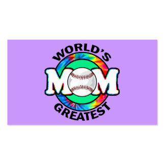 World s Greatest Mom Softball Business Card Template