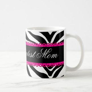 World s Greatest Mom Zebra Print Lace Mug