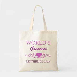 World s Greatest Mother-In-Law purple Bag