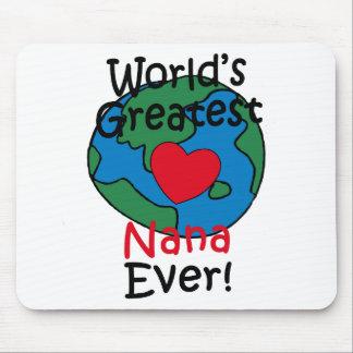 World's Greatest Nana Heart Mouse Pad