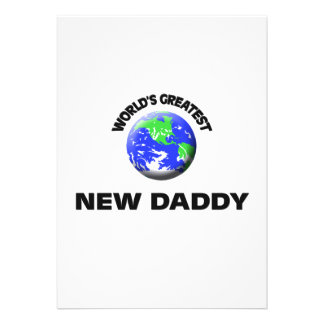 World s Greatest New Daddy Invitation