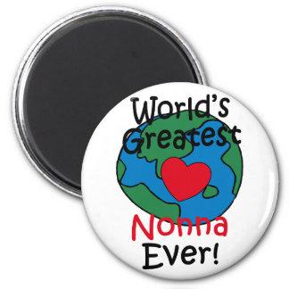 World's Greatest Nonna Heart Refrigerator Magnets