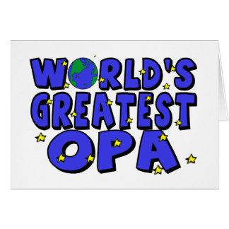 World s Greatest Opa Card