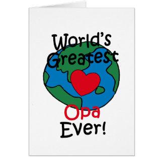 World's Greatest Opa Heart Card