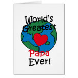 World's Greatest Papa Heart Greeting Card