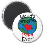 World's Greatest Papa Heart Refrigerator Magnet