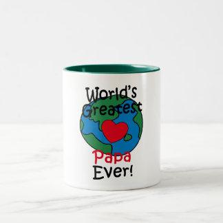 World's Greatest Papa Heart Two-Tone Mug
